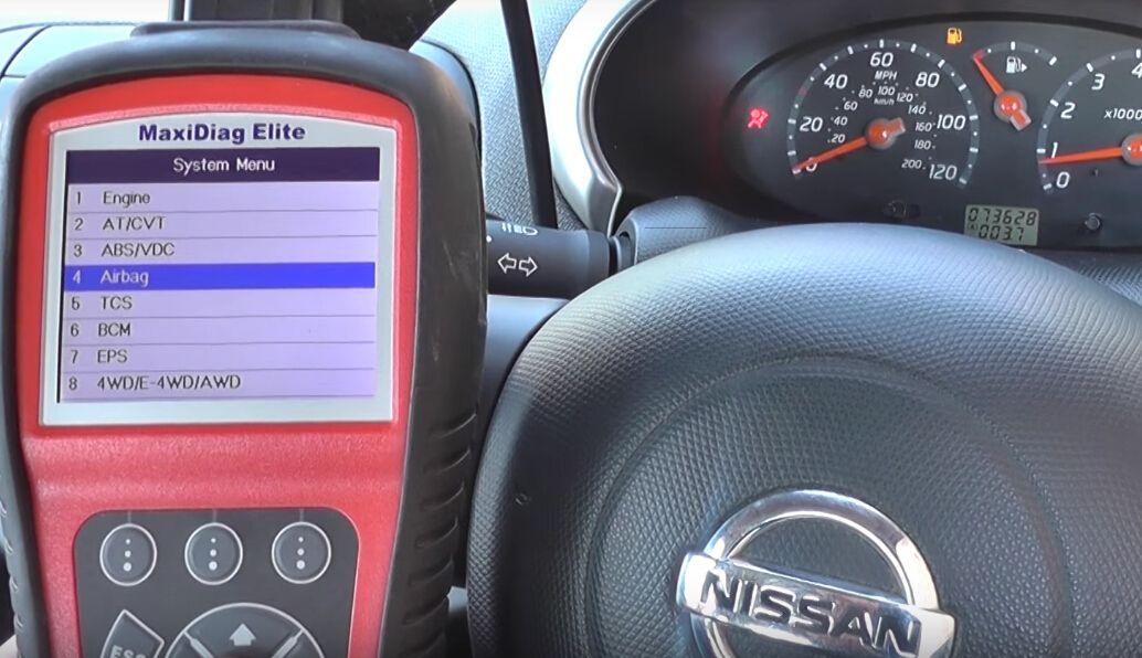 Autel MD802 reset Nissan airbag light-5